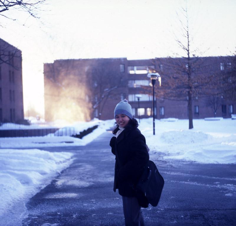 Crazy snow swirl