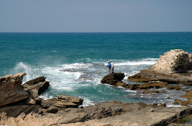 Caesarea - Fishing in the Mediterranean