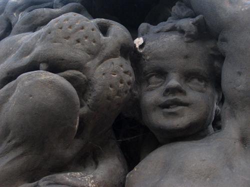 Strange cherub, Prague