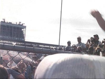 Talladega victory lane Bobby Allison winner.