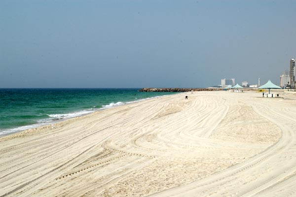 Beach along the Corniche in Ajman