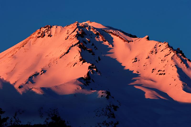 Alpenglow on Mt. Shasta