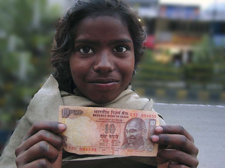 girl with ten rupees, Manali