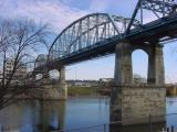 The old Shelby Street Bridge in Nashville