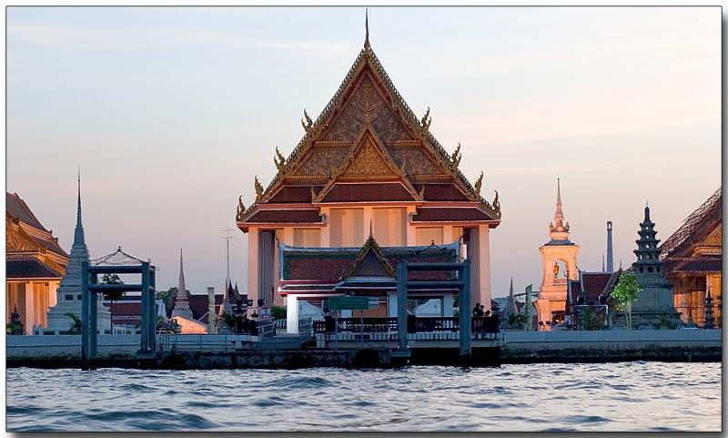 Wat along the river, Bangkok