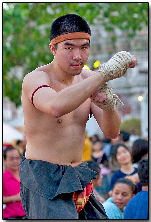 Martial arts fighter - Wat Arun, Bangkok