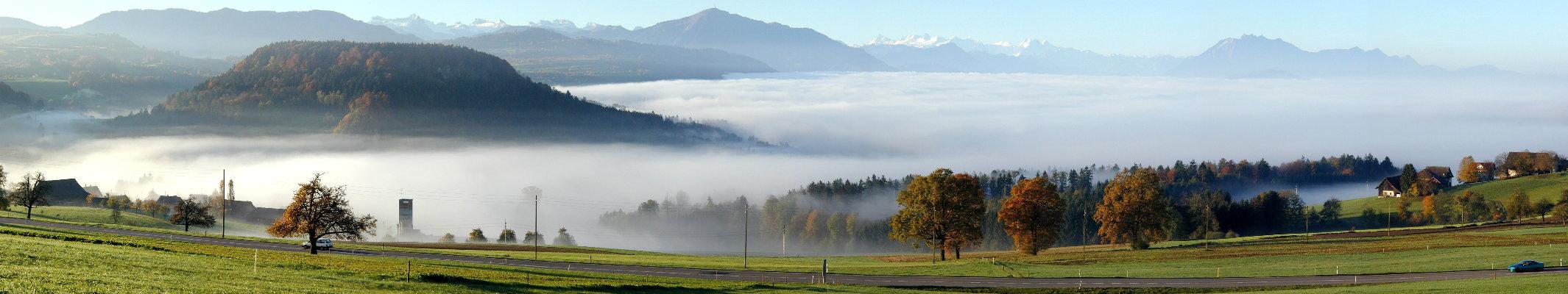 Central-Switzerland in fog