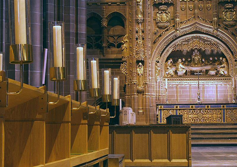 The altar at Liverpools Anglican cathedral