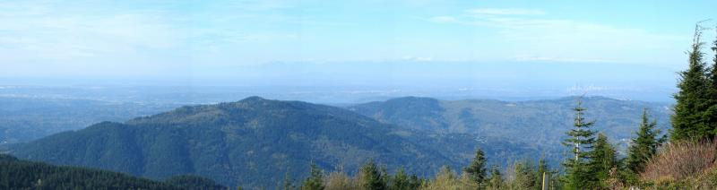 Squak Mt., Cougar Mt., Seattle Panaroma from T1 - late morning