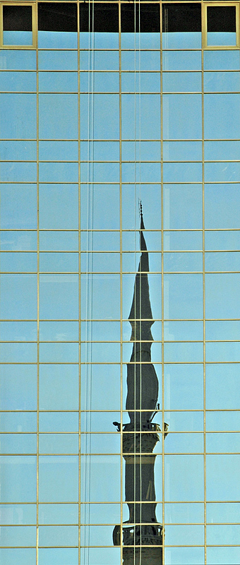 Mosque reflection