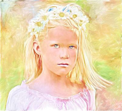 Sweet Girl - Painting
