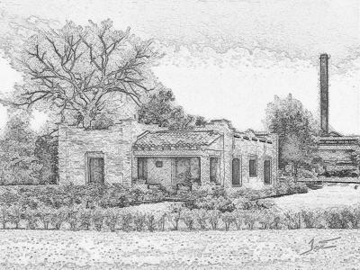 Old house - b&w Sketch
