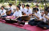 All girls' band with traditional instruments