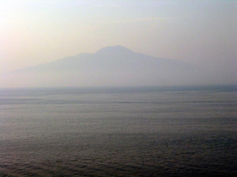 Vesuvius in the mist