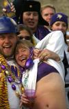 A couple at the dance party saw me with my camera and demonstrated that she is not a superficial Viking Football fan.