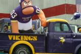 Look at the effort this Viking Football fan put into his pickup truck.