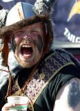 Check out his Viking Football fan tatoo!