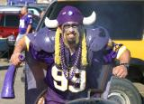 This is the Scary BBQ guy, a Viking Football fan.