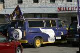 Here is an older viking football tailgating van