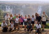 Group photo at Iguassu (Brazil)