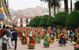 local festival in small village of Sorata, Bolivia