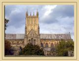 Side view of Wells Cathedral