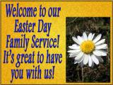 'Welcome' slide from the 2003 Easter series