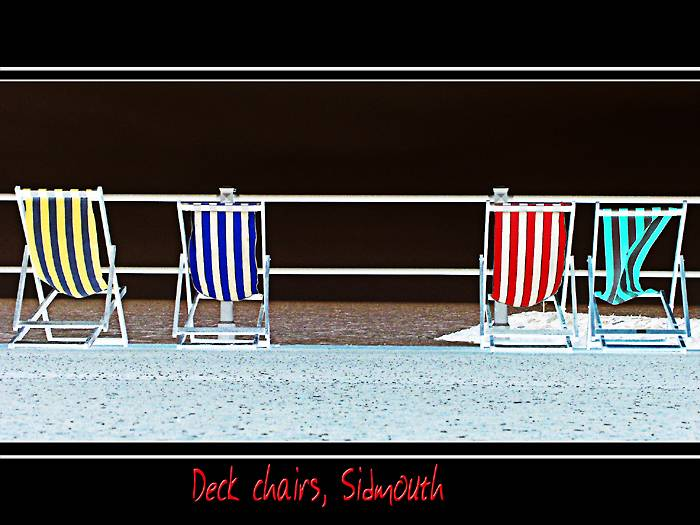 Coloured deck-chairs, Sidmouth (2025)