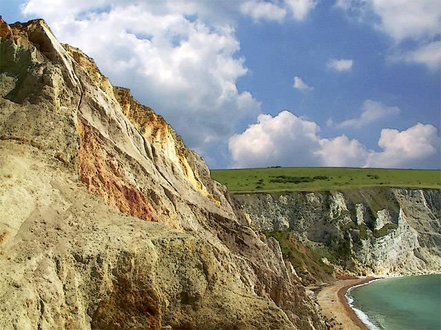 Coloured cliffs, Alum Bay, Isle of Wight