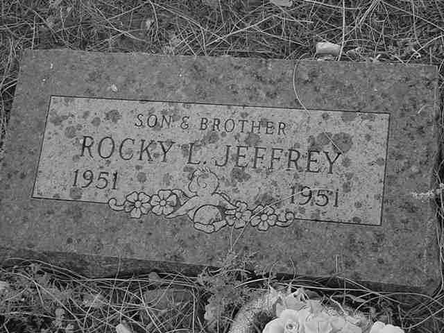 Rocky L Jeffrey <br> 1951 to 1951