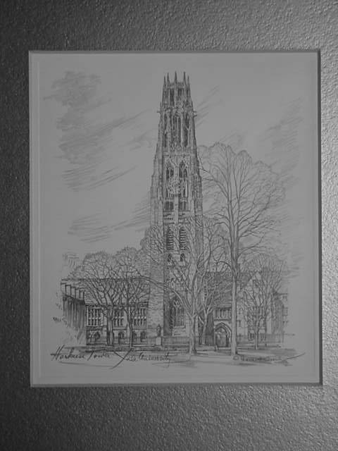 Harkness Tower at Yale University<br> by Charles H Overly
