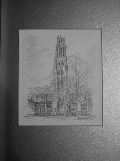Harkness Tower at Yale University<br>by Charles H Overly