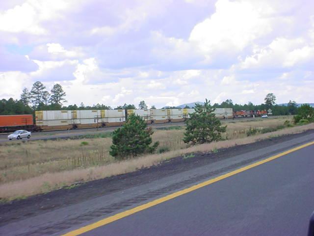 train on westbound I 40