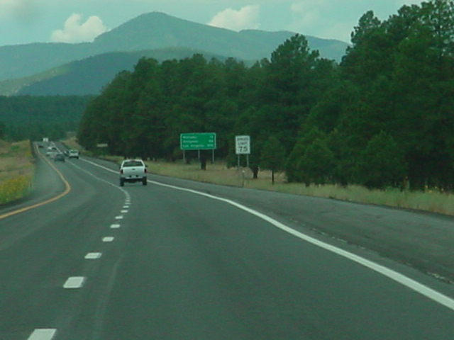 west on Interstate 40