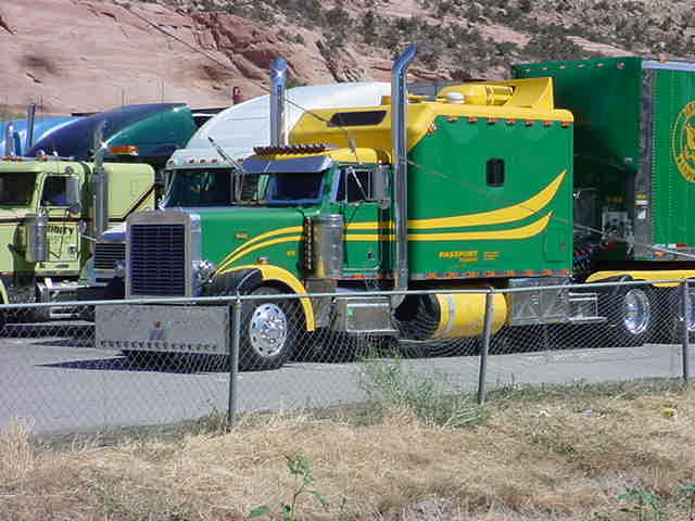 New Mexico<br> state line big rig
