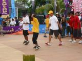 break dance competition at Kuta Beach