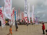 Flags on the beach