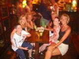 Andrew and Tina's family at the Irish Pub