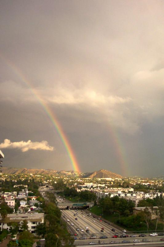 Rainbow, wider, showing double