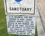 Bird Sanctuary Sign