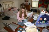 July 28, 2004 - Jess at her desk