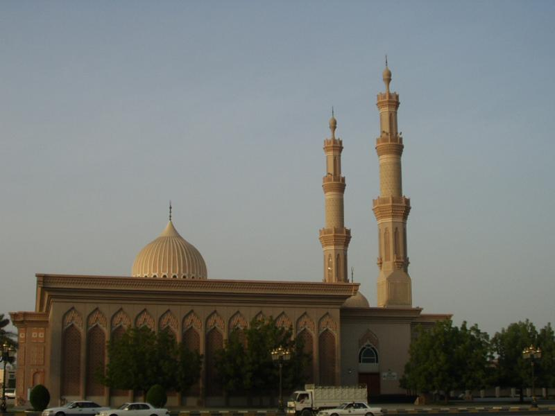 Rather nice mosque, on Palace square, where the Koran roundabout is