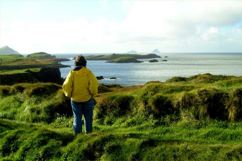 Looking out to the Skelligs from Valentia Island