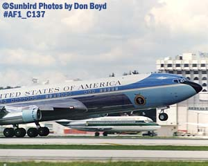 USAF VC-137 Air Force One stock photo