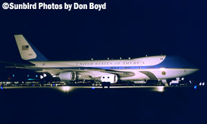 USAF VC-25A Air Force One stock photo