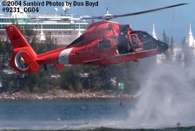 2004 - USCG HH-65B #6516 rescue swimmer spashdown - Coast Guard stock photo #9231