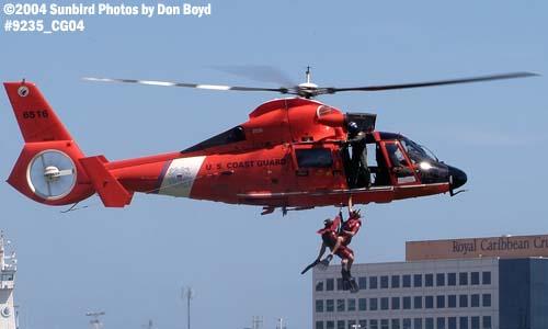 2004 - USCG HH-65B #6516 hoist - Coast Guard stock photo #9235