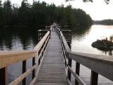 Footbridge across Slim Bay