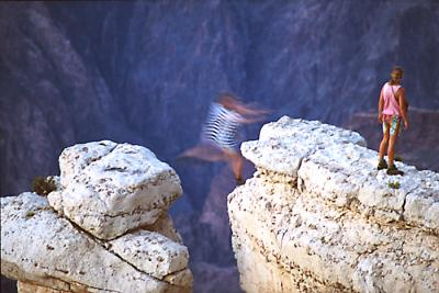 <b>2nd Place</b><br><i>Leap of Faith - Grand Canyon<br>by Jeff Hall</i>