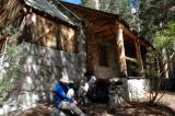 Lon Chaney's cabin ( yep,THE WOLF MAN ) , now used by Forest Rangers